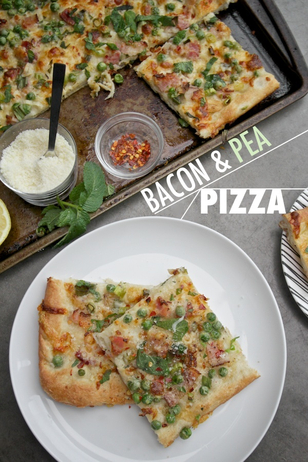 Bacon & Pea Pizza //shutterbean