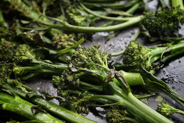 Roasted Broccolini with Lemon Tahini // shutterbean