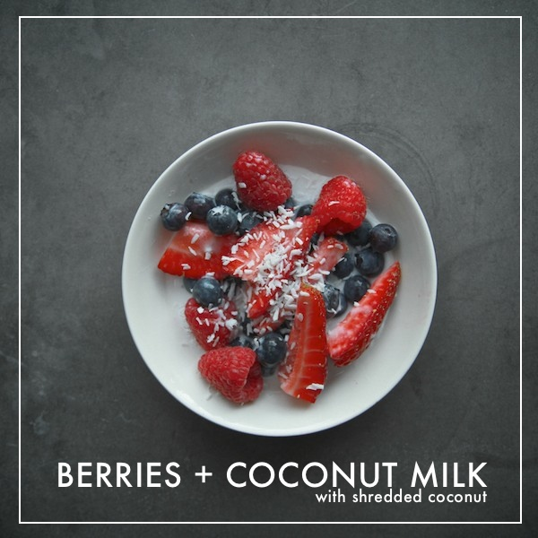 Berries + Coconut Milk