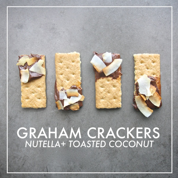 Graham Crackers + Nutella +Toasted Coconut // shutterbean