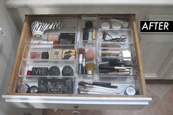 Organized Makeup Drawer// shutterbean