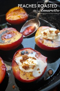 Roasted Peaches in Amaretto // shutterbean