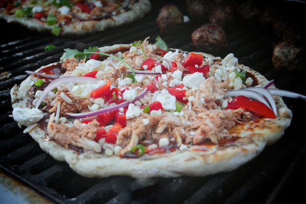 Grilled BBQ Chicken Pizza // shutterbean