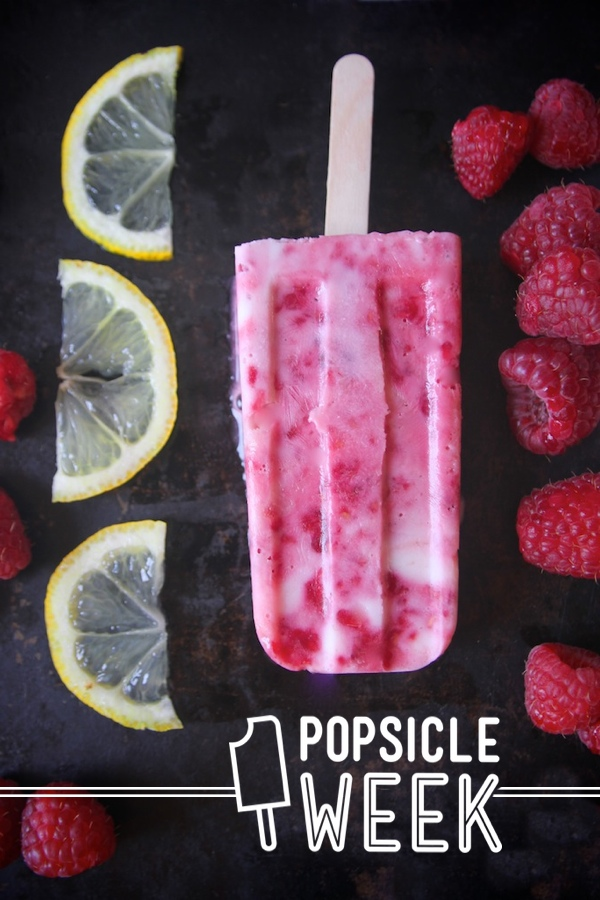 Raspberry Lemon Yogurt Popsicles // shutterbean