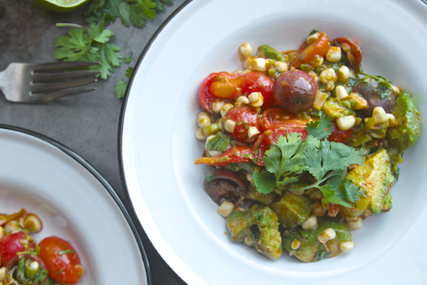 Spicy Corn Tomato Avocado Salad // shutterbean