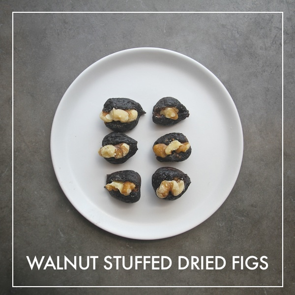 Walnut Stuffed Dried Figs