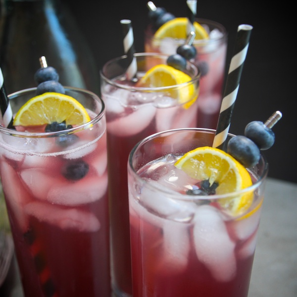 Spiked Blueberry Lemonade //shutterbean