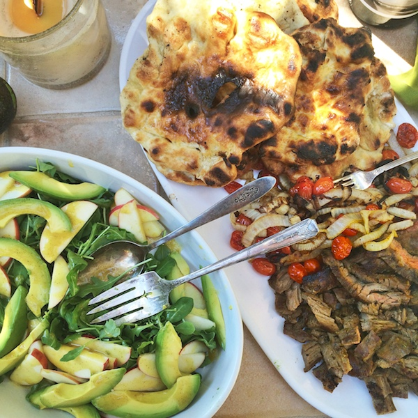 Grilled Steak & Avocado Flatbread // shutterbean