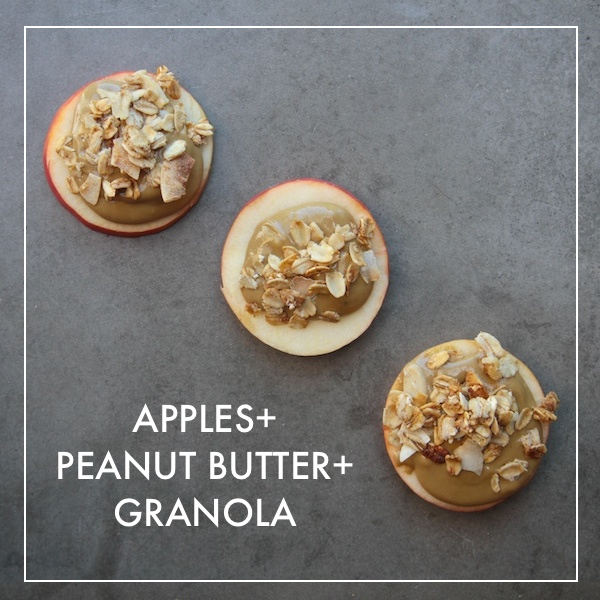 APPLES + PEANUT BUTTER + GRANOLA