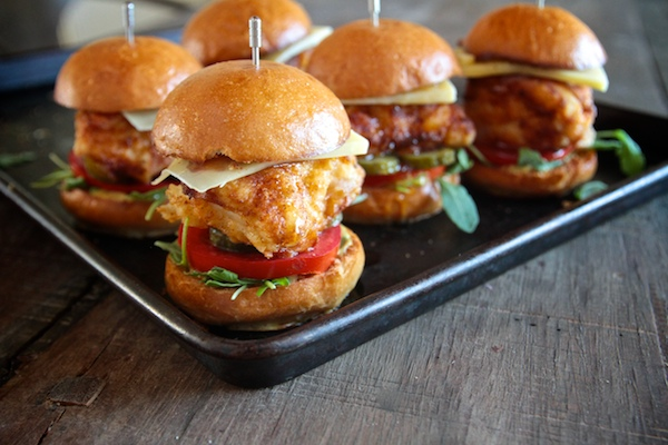 Honey Mustard Fried Chicken Sliders // shutterbean