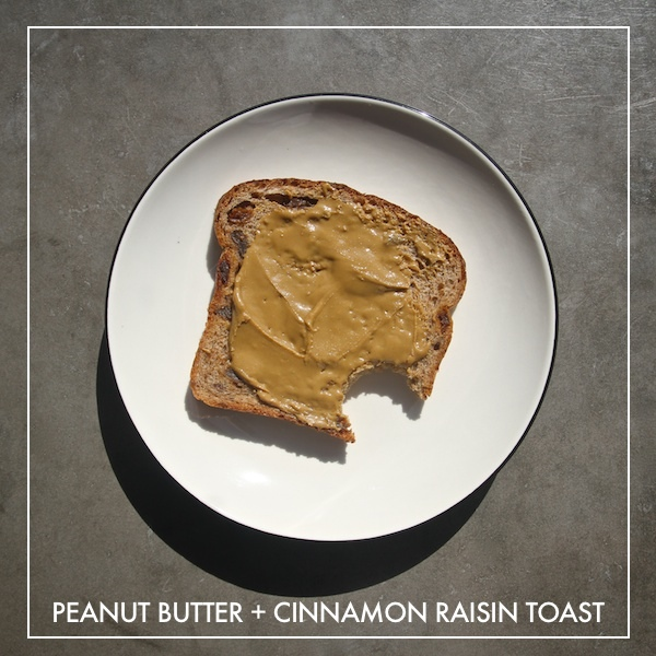Peanut Butter + Cinnamon Raisin Toast
