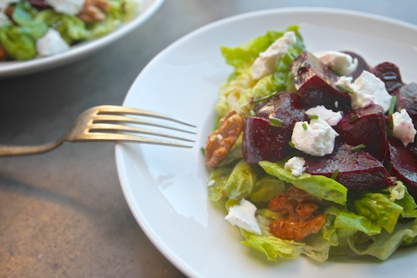 Little Gem Lettuce Salad with Beets & Walnuts // shutterbean