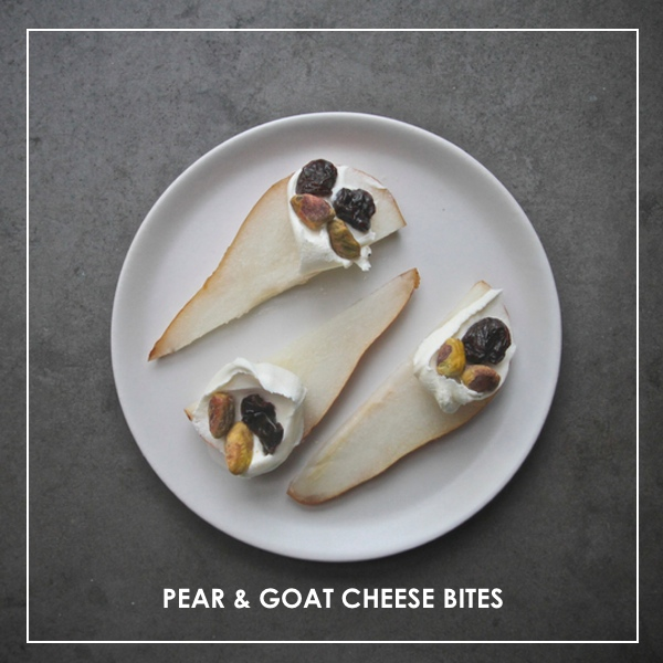 Pear Goat Cheese Bites