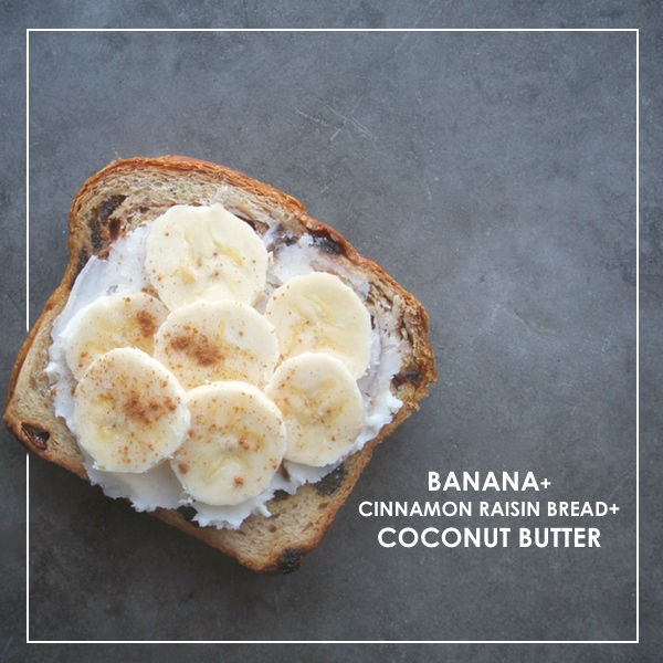 Cinnamon Raisin Bread with Coconut Butter & Bananas // shutterbean