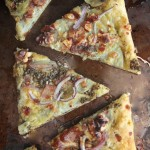 Pesto Potato Bacon Pizza // shutterbean