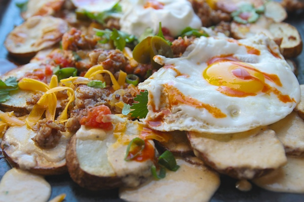 Roasted Potato Breakfast Nachos // shutterbean