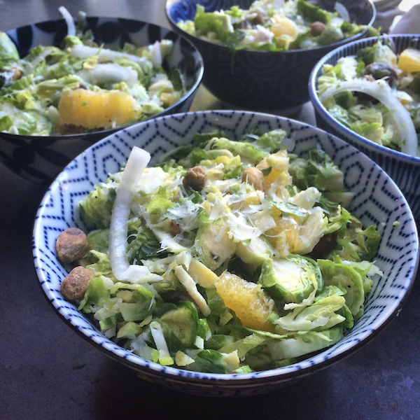 Brussels Sprouts Salad with Pecorino & Oranges // shutterbean