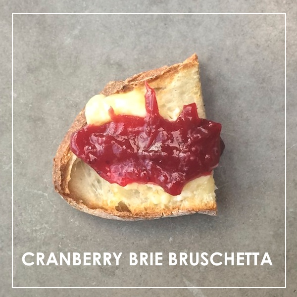 Cranberry Brie Bruschetta
