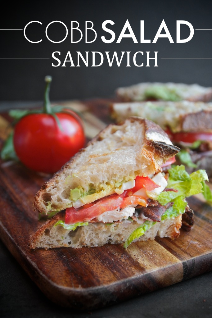 Make your favorite salad into a sandwich with this Cobb Salad Sandwich recipe on Shutterbean.com