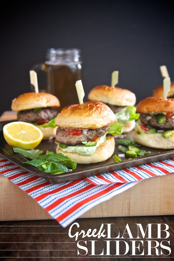 Greek Lamb Sliders