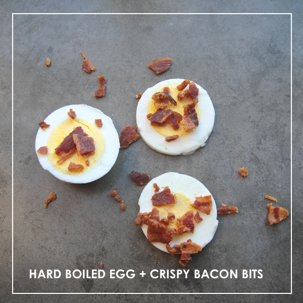 Hard Boiled Egg + Crispy Bacon Bits //  shutterbean