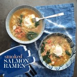 Smoked Salmon Ramen- a quick way to fancy up packaged ramen!  Check out more at Shutterbean.com