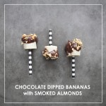 Chocolate Dipped Bananas with Smoked Almonds // shutterbean