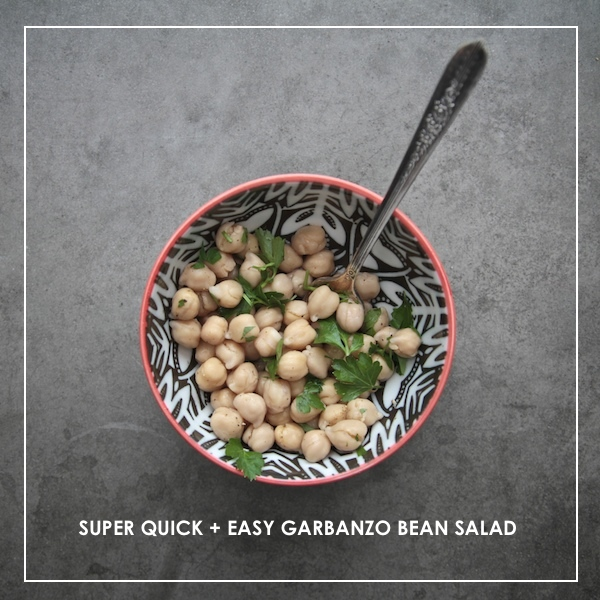 Super Quick Garbanzo Bean Salad