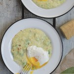 Polenta gets FANCY with the additions of pesto & broccoli. Put an egg on it for a hearty breakfast/lunch/dinner. Check out the recipe at Shutterbean.com