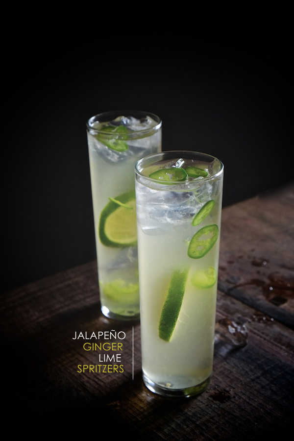 A refreshing cocktail made with sliced Jalapeños, Limes, Ginger Beer & Sparkling water. Find this recipe for Jalapeño Ginger Lime Spritzer on Shutterbean.com!
