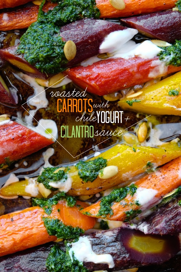 The most satisfying way to eat carrots! Check out these Roasted Carrots with Chile Yogurt & Cilantro Sauce on shutterbean.com!