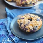 A blueberry muffin doughnut hybrid. Look at that crumb topping!  Check out the recipe at Shutterbean.com !