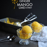 Ginger Mango Lime Sorbet made INSTANTLY with @vitamix blender. Find the recipe on Shutterbean.com!