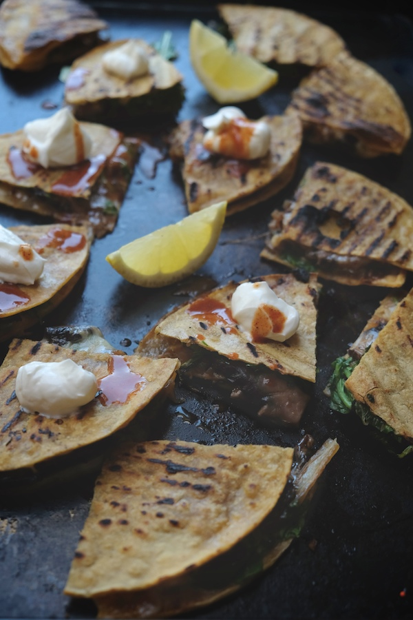 Mushroom & Caramelized Onion Quesadillas // shutterbean