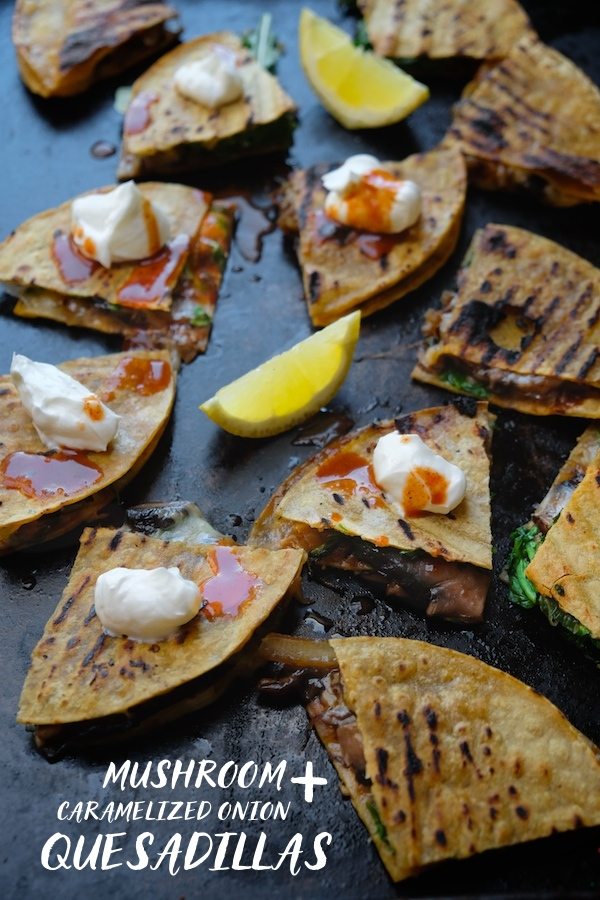 Mushroom & Caramelized Onion Quesadillas