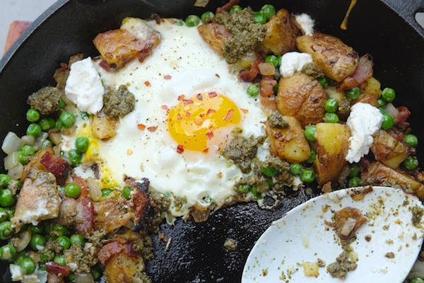 Bacon Pesto Potato Hash // shutterbean