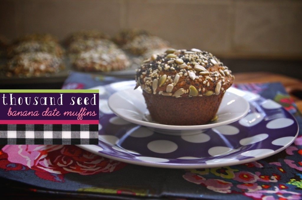 1000 Seed Banana Date Muffins