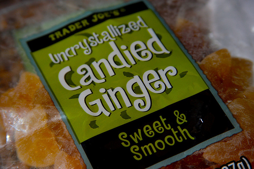 Uncrystallized Candied Ginger