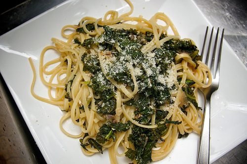 Pasta with Braised Kale