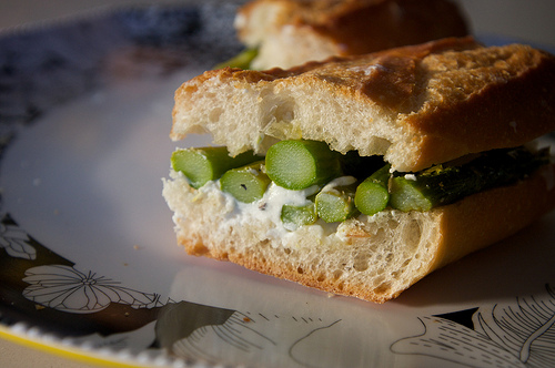 Asparagus & Goat Cheese Sandwiches