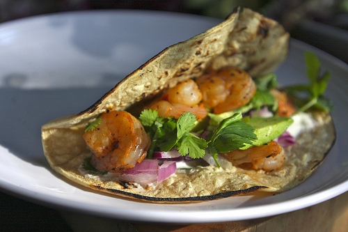 Shrimp Tacos with Cabbage & Lime