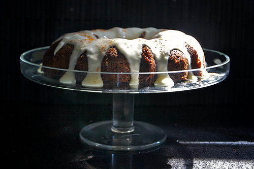 Carrot Pineapple Bundt Cake w/ Sour Cream Frosting