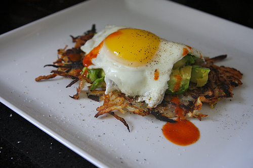 Hash Browns with Fried Egg & Avocado