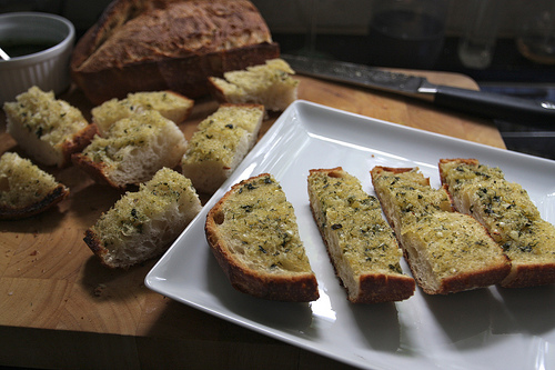 Tracy's KILLER Garlic Bread