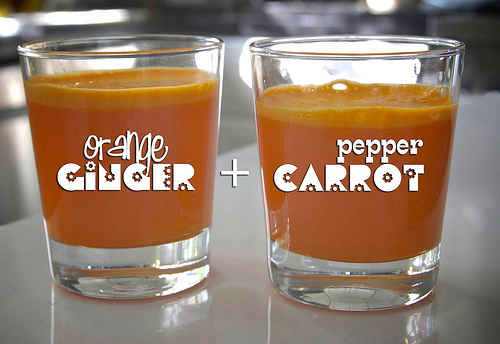 Orange Ginger Pepper Carrot Juice