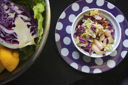 Cabbage Apple Slaw with Maple Pecans