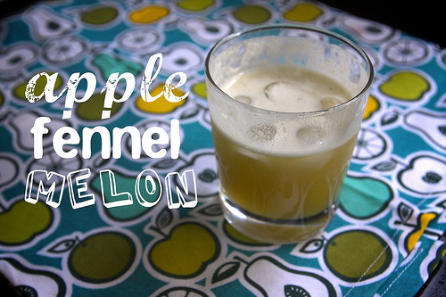 Apple Fennel Melon Juice