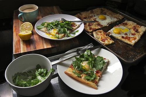 Bacon & Egg Breakfast Pizza