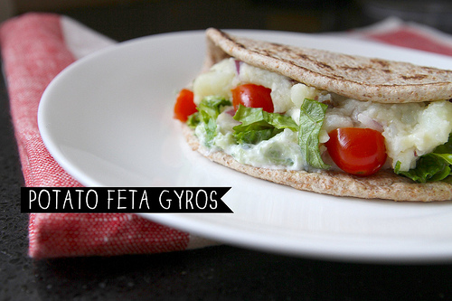 Potato Feta Gyros