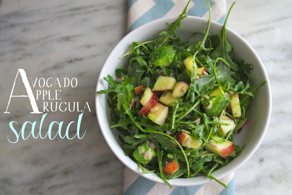 Avocado Apple & Arugula Salad